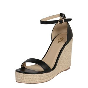 4th & Reckless Páskové sandály 'VENUS'  písková / černá