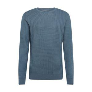 NOWADAYS Svetr 'Basket Stitch Sweater'  modrá