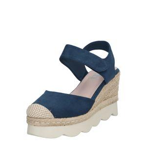 Xti Páskové sandály  písková / námořnická modř