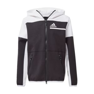 ADIDAS PERFORMANCE Sportovní svetr  černá / bílá
