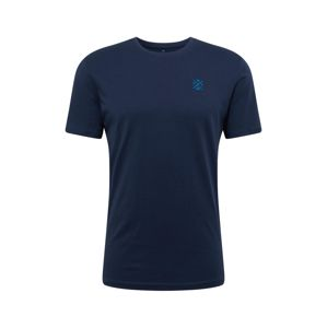 TOM TAILOR Tričko 'basic crew-neck t-shirt'  modrá