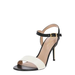 Lauren Ralph Lauren Páskové sandály 'GWEN'  černá / bílá