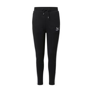 PUMA Kalhoty  černá / bílá