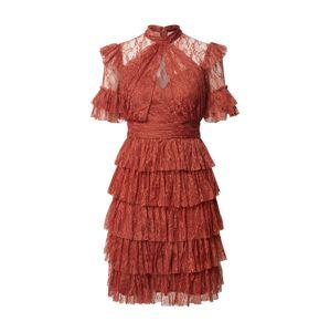 By Malina Koktejlové šaty 'Liona'  rezavě červená
