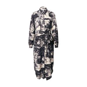 OBJECT Košilové šaty 'Elia'  černá / písková / bílá