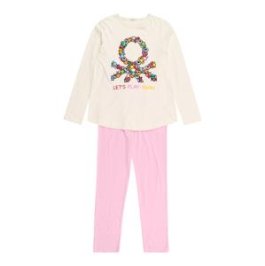 UNITED COLORS OF BENETTON Pyžamo  krémová / žlutá / mix barev / růžová