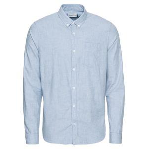NOWADAYS Košile 'button-down brushed chambre shirt'  světlemodrá