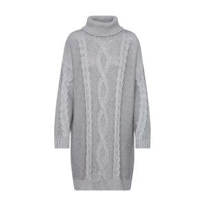 MINKPINK Úpletové šaty 'JANINE CABLE JUMPER DRESS'  šedá