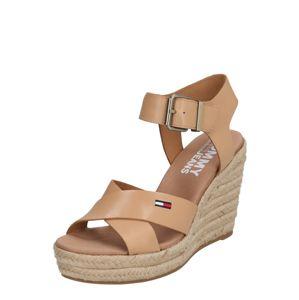 Tommy Jeans Páskové sandály 'LUNA'  béžová / bronzová