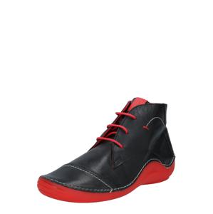 COSMOS COMFORT Šněrovací boty  černá / červená