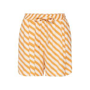 NÜMPH Kalhoty 'NUBRENDA'  oranžová / bílá