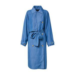 SOAKED IN LUXURY Přechodný kabát 'SLNuna'  modrá džínovina