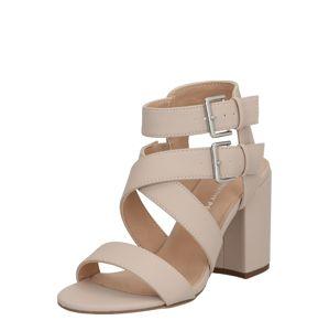 Dorothy Perkins Páskové sandály 'Saffron Heeled Sandal'  béžová