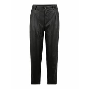 Noisy May (Petite) Kalhoty se sklady v pase 'Chika'  černá