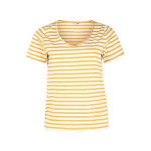 ONLY Carmakoma Tričko 'CARLIFE'  krémová / žlutá