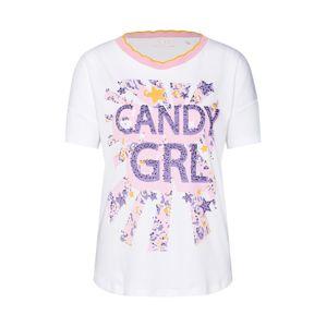 Rich & Royal Tričko 'Candy GRL'  fialová / pink / bílá