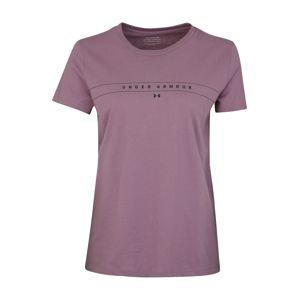 UNDER ARMOUR Funkční tričko 'GRAPHIC CLASSIC CREW'  fialová / černá