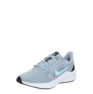 NIKE Běžecká obuv 'Downshifter 10'  šedá / tyrkysová / černá