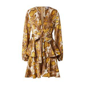 Forever Unique Šaty  béžová / žlutá / krémová