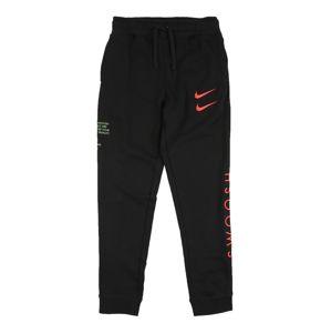 Nike Sportswear Kalhoty  černá / lososová / pastelově zelená