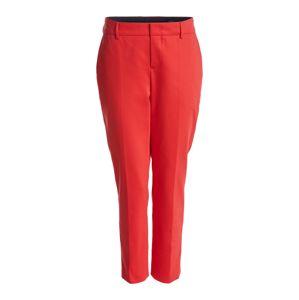 SET Kalhoty se sklady v pase  červená
